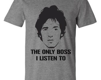 Bruce Springsteen The Boss T-shirts available in Mens and Women's sizes. Perfect gift for any bruce fan available in tank tops