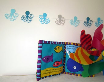 Octopus Paper Garland - Decor, Paper Party Decor, Birthday Party