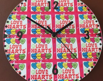 Loveheart themed clock