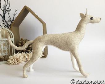 Dog Replica   Greyhound    Cute Toy Dog Replica   Greyhound Art    Dog Figurine   Whippet sculpture    Greyhound Gift    Miniature Greyhound