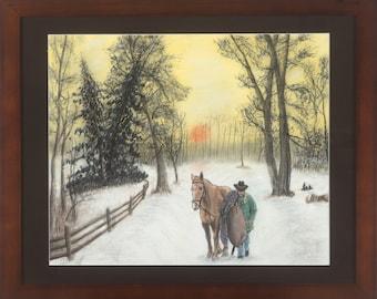 Sunrise - A reprint of a color pencil drawing by Michel De Cicco