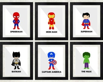 Superhero Printables < Superheroes < Superhero Wall Art < Batman < Spiderman < The Hulk < Superman < Captain Ametica < Set of 6