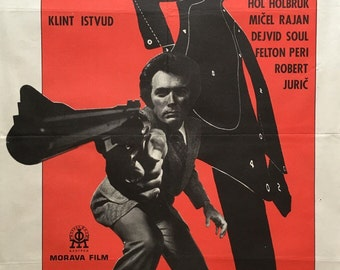 MAGNUM FORCE 1973 original Yugoslavian movie poster 20x28 Clint Eastwood as Dirty Harry