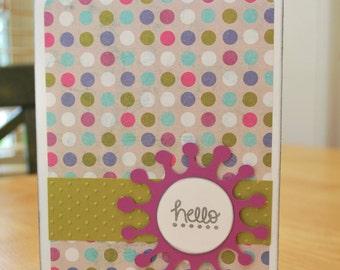 Hello Greeting Card - Blank Inside - Friendship