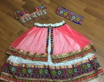 Vintage ethanic Ramleela style White chaniya choli | Lehenga Choli | Navratri | Gujarati style | Kutchi dress | Garba | Indian wear