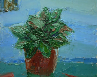 Still Life with a potted plant 1
