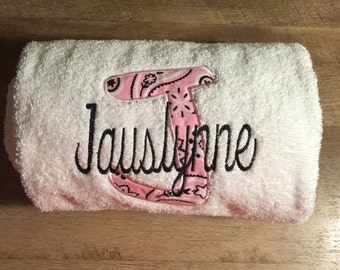 Personalized Applique Towel