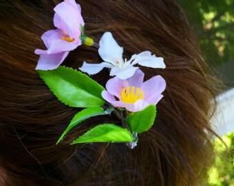 cherry blossom hair barette