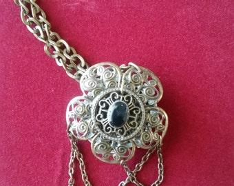 Antique Gold Filigree Pendant