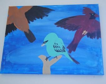 Chirpie Birds Acrylic Painting