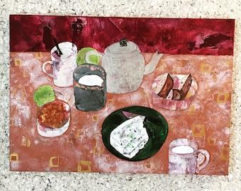 """ennakonoma original painting """"a gemmy dinner"""""""