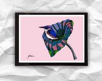 Print Exotic Bird, digital illustration