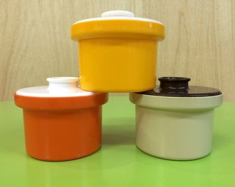 Vintage Retro Mid Century Decor  Canisters x 3 - Made in Australia