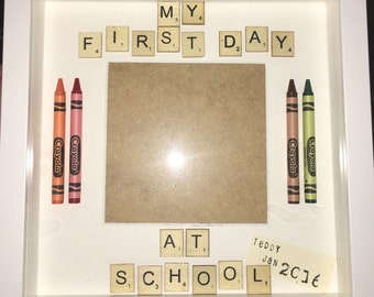 First Day At School Handmade Frame