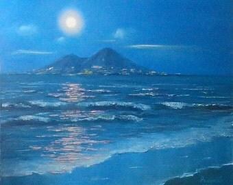 Картина маслом. Неаполь.Napoli. Oil painting.