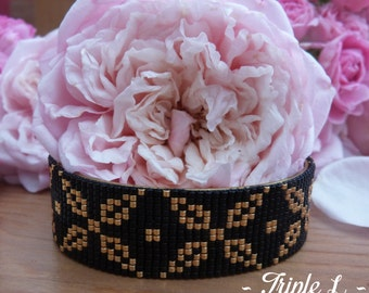 LAVINIA Miyuki beads Cuff Bracelet