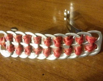 Red Ribbon Soda Tab Barrette
