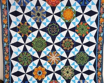 Stack N Whack Kaleidoscope Twin Quilt