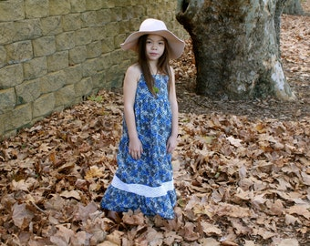 iluca the label | Sienna Vintage Crochet Smock Blue