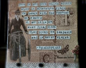Romantic Shakespeare Sonnet 116 canvas quote