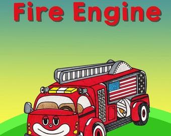 Children's Book Fire Truck Book Gifts For Children Kids Gifts For Kids Book Picture Books For Kids Fire Engine Fireman Book Fire Fighter