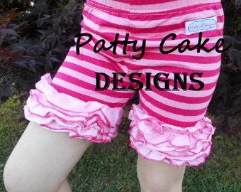 Children's girls kids - icing ruffle shorts - size 3 / 4 - pink & hot pink