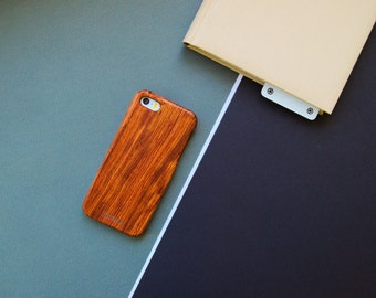 Wooden iPhone SE case, Wood iPhone 5s Case, iPhone 5 wooden case, Rosewood case iPhone 5, LCD screen + box // Rosewood