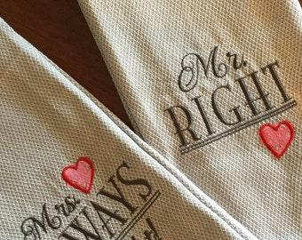 Bridal Shower or Wedding Gift Dish Towels