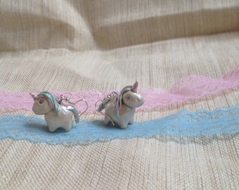 Pearl unicorn earrings