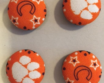 Clemson Tigers Fabric Covered Button Magnets