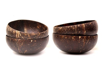 Coconut Shell Bowls - Pack of 4