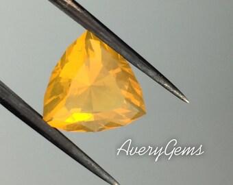 Orange Opal Natural Gemstone 3.93 ct October Birthstone By Avery Gems