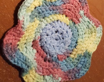 Floral Dishcloth - Pastel Rainbow