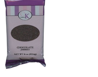 CK Products Chocolate Jimmies Candy Edible 16oz
