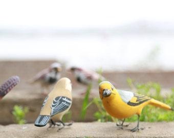 Handmade paper mache Birds