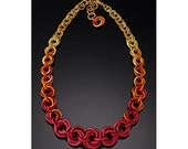 Tapered Mobius Necklace - Flame Color (Knotted Metal Collection)