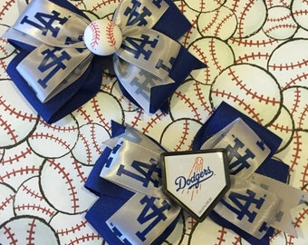 Los Angeles Dodgers bows! Bows sold individually! (Free Shipping in US)