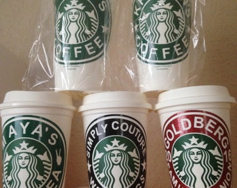 Starbucks personalized cups
