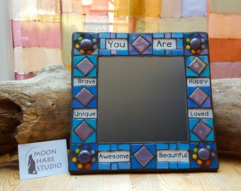 Positive Affirmation Mosaic Mirror