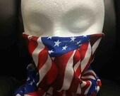 American Pride Rave Bandana Mask for DJ, Edc, Ultra, Music Festival, Concerts, Clubs, EDM