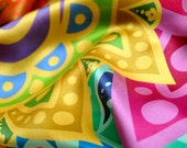 ACCESSIBILITY silk scarf, rainbow scarf, colorful scarf, gift for her, multicolor scarf, long scarf, printed silk scarf