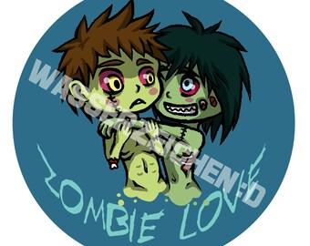 Zombie Love Button 44mm