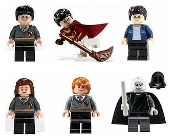 Collection of Harry Potter LEGO minifigures Superheroes