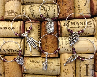 Wine Lover's Collection Wine Charms - set of 6