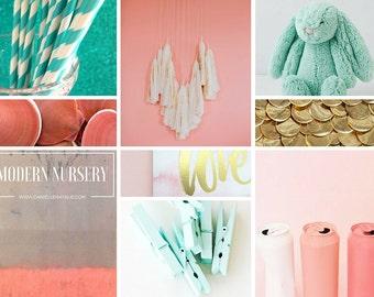 Design Mood Board, inspiration board, e-design, e decor, virtual design, interior design, design board, home gift