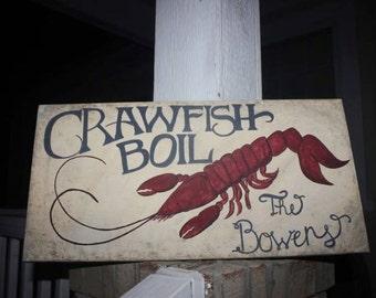 Custom Crawfish boil sign