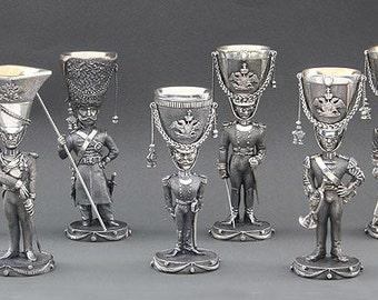 """Коллекции сувенирных рюмок """"Русская армия 1812 г."""", Collections souvenir glasses """"Russian army in 1812"""""""