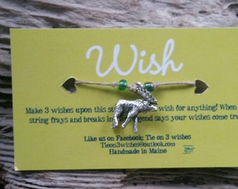Maine Moose Wish bracelet