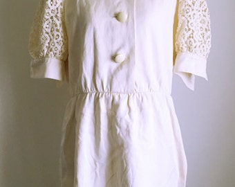 GIVENCHY 80's-90's vintage crocheted lace dress
