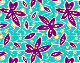 """Floral Fabric:  Small Wonders Brazil Floral Pattern by Springs Creative  100% cotton Fabric by the yard 36""""x43""""  (N489)"""